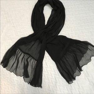 Accessories - Black Evening Cape/Scarf